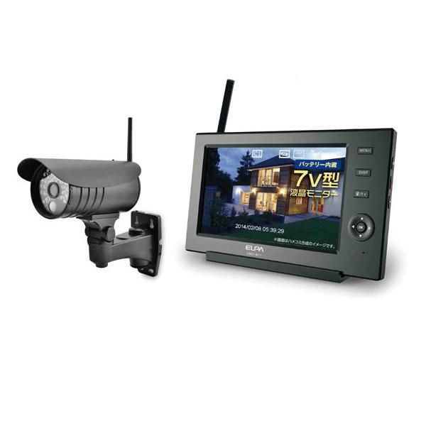 ELPA 防犯/セキュリティ ワイヤレスカメラ&モニター [CMS-7110 ]|proshopdate15