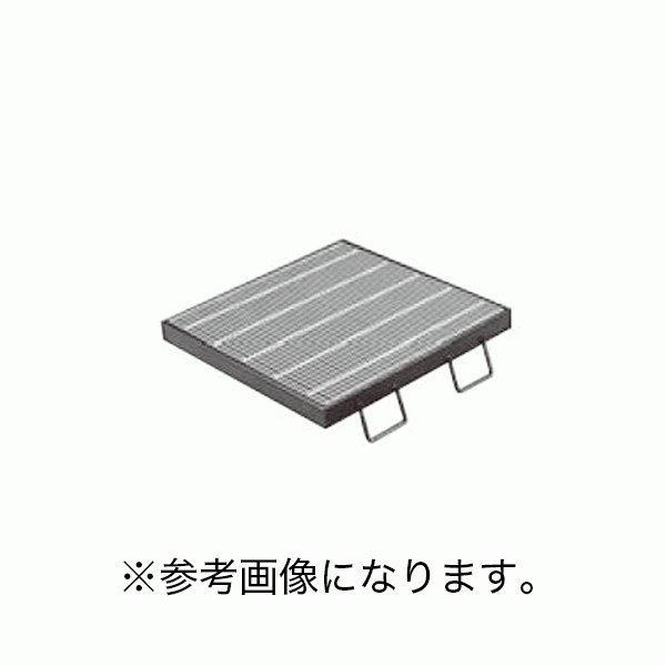 カネソウスチール製グレーチング枠付正方形型細目プレーンタイプ集水桝用T-2仕様 QSC-3319 (/C)