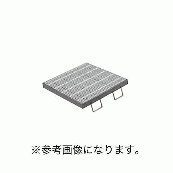 カネソウスチール製グレーチング枠付正方形型細目滑り止め模様付集水桝用T-2仕様 QXC-4425A (/C)