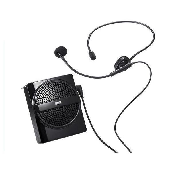 サンワサプライ ハンズフリー 拡声器スピーカー スポーツ講習会 イベント ポータブル 軽量 小型 [MM-SPAMP2] (/F)