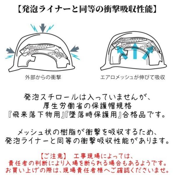 DIC ヒートバリア&エアロメッシュ SYA-CSVM コンパクトシールド面付き 涼しい遮熱ヘルメット(通気孔付き)/ 夏 熱中症対策 工事用 作業用 建設用 高所用|proshophamada|07
