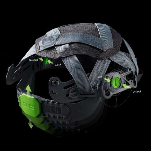 DIC AP11EVO-CS ワイドシールド面付き 作業用ヘルメット(通気孔なし/ライナー入り)/ 工事用 建設用 建築用 現場用 高所用 安全 保護帽 屋外作業 電気設備工事|proshophamada|04