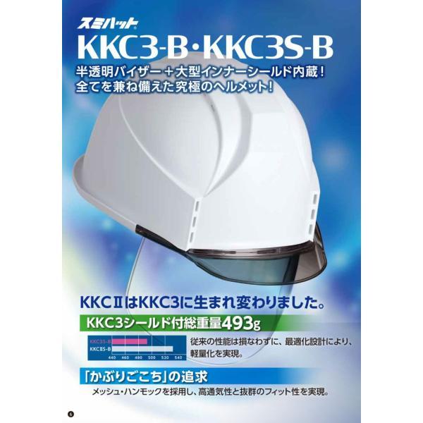 スミハット KKC3S-B-NCOOL Nクール 遮熱 練込 大型シールド面付 作業用ヘルメット(通気孔付き/ライナー入り)/ 夏 熱中症対策 安全 工事用 建設用 建築用|proshophamada|06