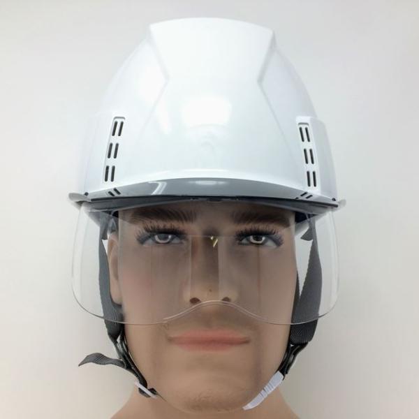 スミハット KKXCS-A-NCOOL Nクール 横長コンパクトシールド面付き 遮熱ヘルメット(通気孔付き/圧縮エアシート)/ 工事 作業 建設 建築 現場 高所 安全 保護帽|proshophamada|06
