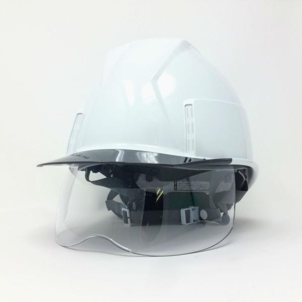 スミハット KKXS-A 横長コンパクトシールド面付き 作業用ヘルメット(通気孔なし/圧縮エアーシート)/ 工事用 建設用 建築用 現場用 高所用 安全 電気工事対応|proshophamada