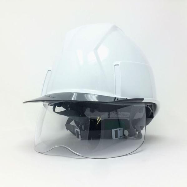 スミハット KKXS-A 横長コンパクトシールド面付き 作業用ヘルメット(通気孔なし/圧縮エアーシート)/ 工事用 建設用 建築用 現場用 高所用 安全 電気工事対応|proshophamada|02
