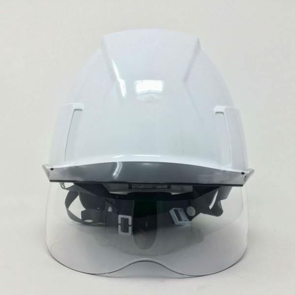 スミハット KKXS-A 横長コンパクトシールド面付き 作業用ヘルメット(通気孔なし/圧縮エアーシート)/ 工事用 建設用 建築用 現場用 高所用 安全 電気工事対応|proshophamada|03