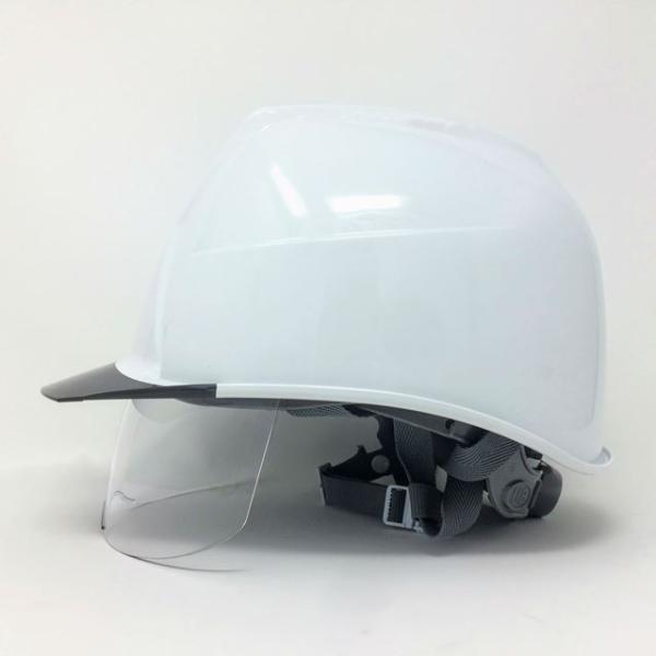 スミハット KKXS-A 横長コンパクトシールド面付き 作業用ヘルメット(通気孔なし/圧縮エアーシート)/ 工事用 建設用 建築用 現場用 高所用 安全 電気工事対応|proshophamada|04