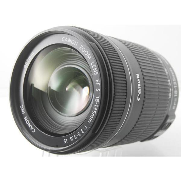 中古 保証付 送料無料 Canon 標準ズームレンズ EF-S18-135mm F3.5-5.6 IS APS-C対応 一眼レフカメラ 初心者 一眼レフカメラ キヤノン レンズ 広角レンズ