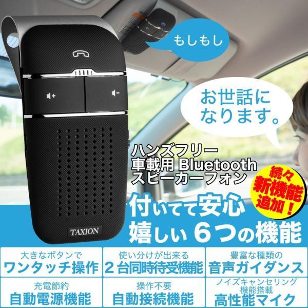 車載用 自動車用 ハンズフリー 通話 スピーカー フォン 車 スマホ bluetooth4.1 車載用品 車中泊 グッズ FMトランスミッター 併用可|protection|03