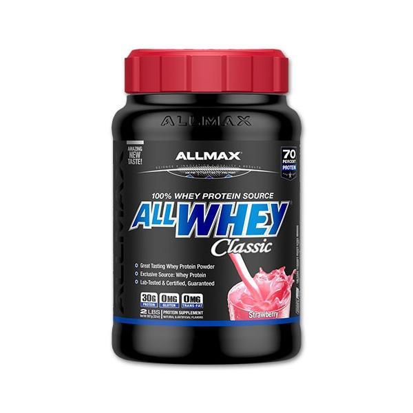 ホエイプロテイン オールホエイクラシック 907g (2LB) ストロベリー Allmax Nutrition(オールマックスニュートリション)|proteinusa