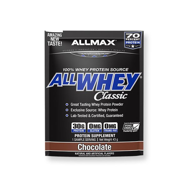 ALLWHEY Classic オールホエイクラシック チョコレート 1回分 43g ALLMAX(オールマックス) proteinusa
