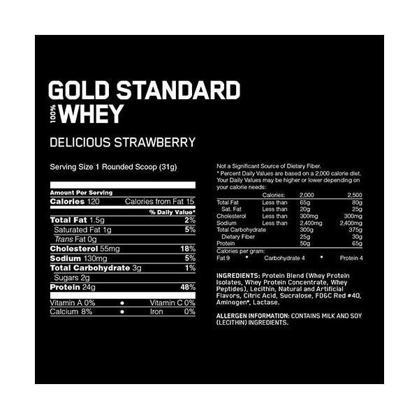 オプティマム プロテイン ホエイ ゴールドスタンダード ストロベリー 4.54kg BCAA オプチマム proteinusa 02