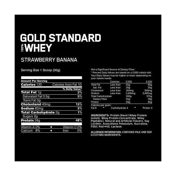 オプティマム ゴールドスタンダード 100% ホエイプロテイン ストロベリーバナナ (2.27kg) オプチマム proteinusa 02