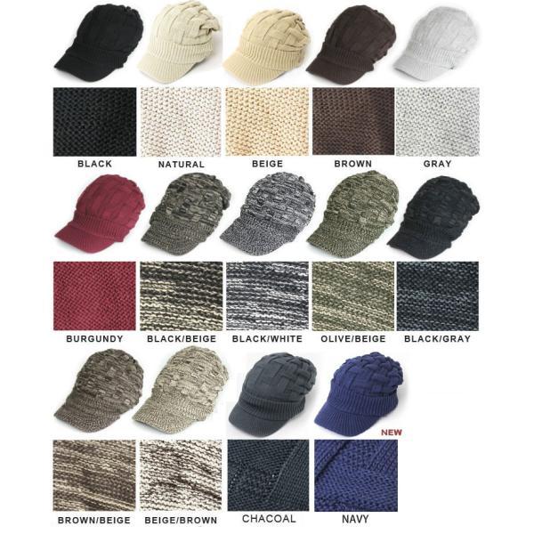 キャスケット 夏 メンズ 帽子 レディース ニット帽 つば付きニット帽 コットン クロス編み 送料無料|protocol|02