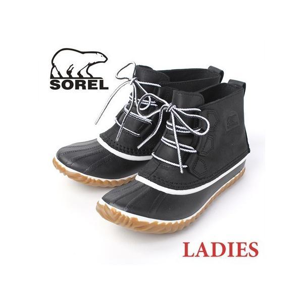sorel ブーツ レディース ソレル Out 'n About Leather アウトアンドアバウトレザー BLACK NL2133|protocol