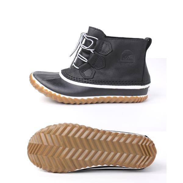 sorel ブーツ レディース ソレル Out 'n About Leather アウトアンドアバウトレザー BLACK NL2133|protocol|02