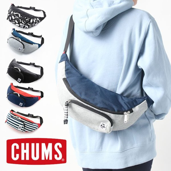 CHUMS チャムス ボディバッグ ショルダーバッグ Fanny Pack Sweat Nylon ファニーパックスウェットナイロン CH60-2677|protocol