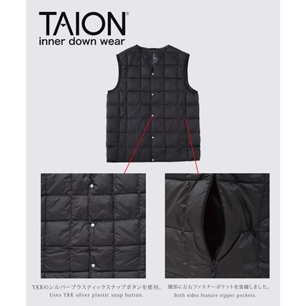 タイオン インナーダウン ベスト ビジネス メンズ インナーダウンベスト TAION V TAION-001|protocol|02