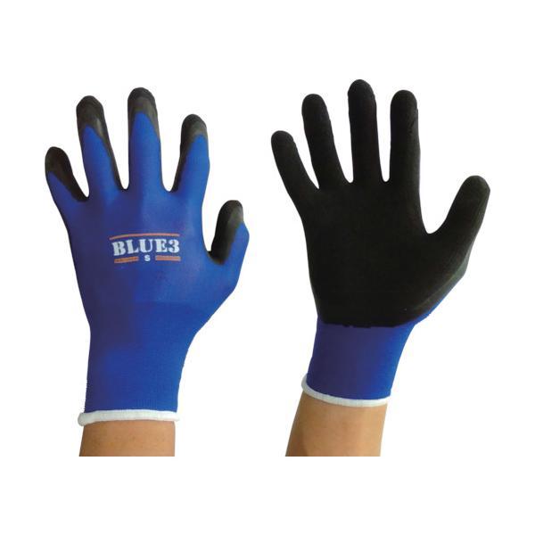 富士手袋 ブルースリー天然ゴム手袋18G (9320-S)