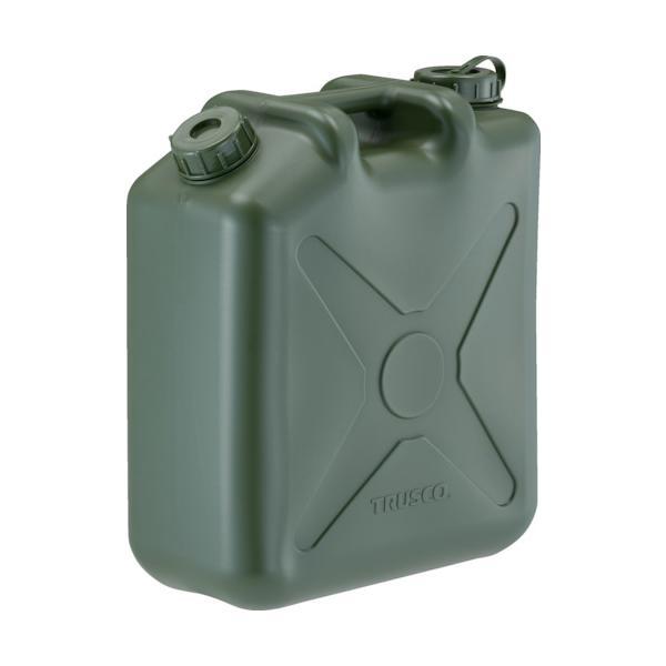 TRUSCO 両口扁平缶 ノズル無し 20L OD色 (T0207-OD)
