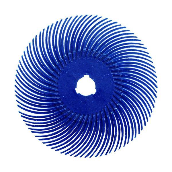 TRUSCO ラジアルブラシディスクΦ76.2#120青 (TBR76.2X120)