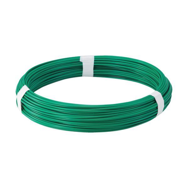 TRUSCO カラー針金 ビニール被覆タイプ グリーン 線径1.2mm (TCW-12GN)