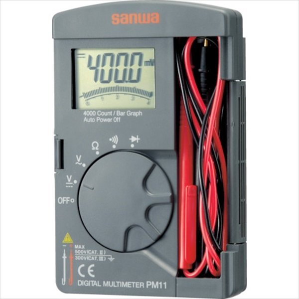 SANWA ポケット型デジタルマルチメータ (PM11)