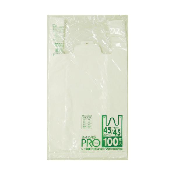 サニパック Y-8Hレジ袋乳白45/45号(Y-8H-W)