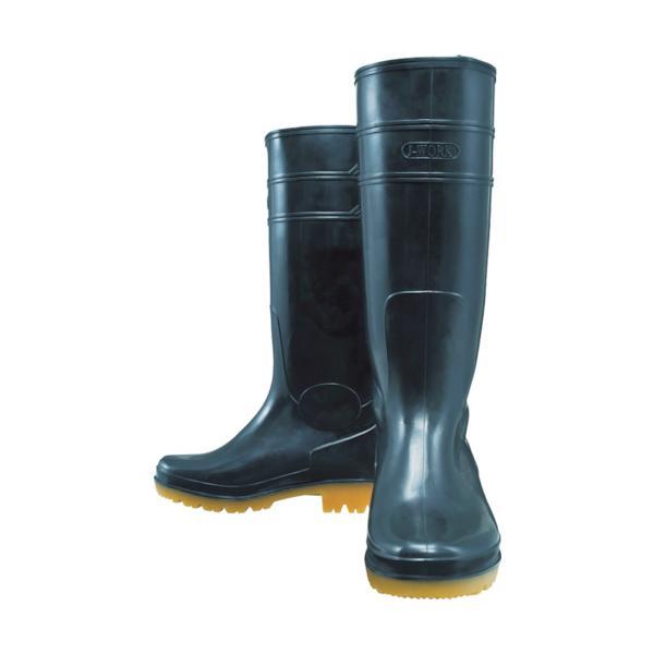 おたふく 耐油長靴ロングタイプ 黒 25.0(JW708-BK-250)