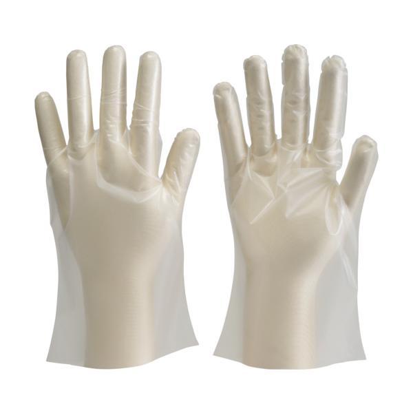 TRUSCO ポリエチレン製使い捨て手袋 Sサイズ (100枚入) (DPM-1833-S)