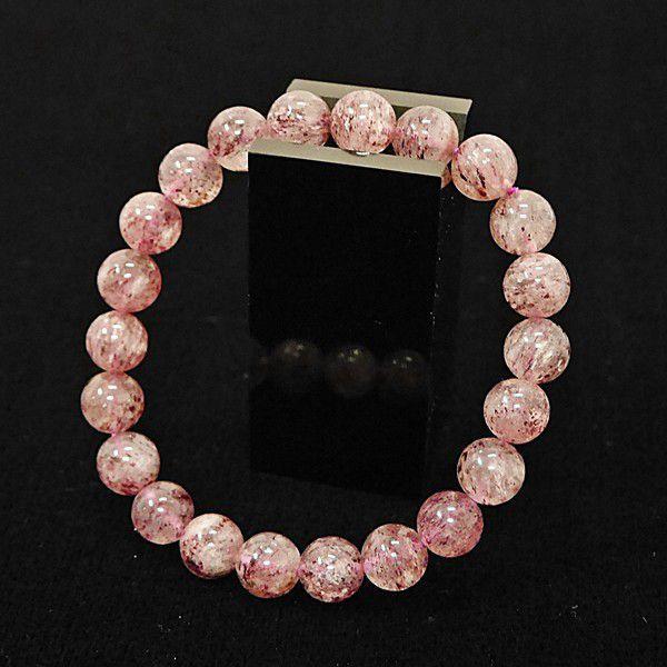 [特選品天然石] 淡色 ピンクエピドート [8.5mm]100104|proud