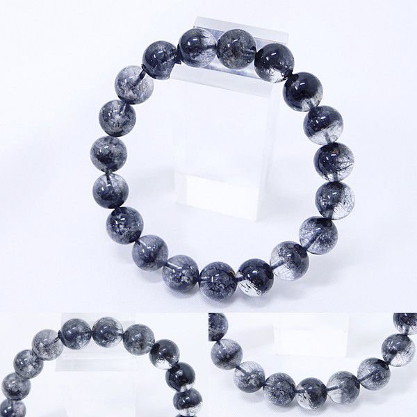 [Original天然石] 渋い黒庭園 ブラックガーデンファントム[10.mm]100035 proud
