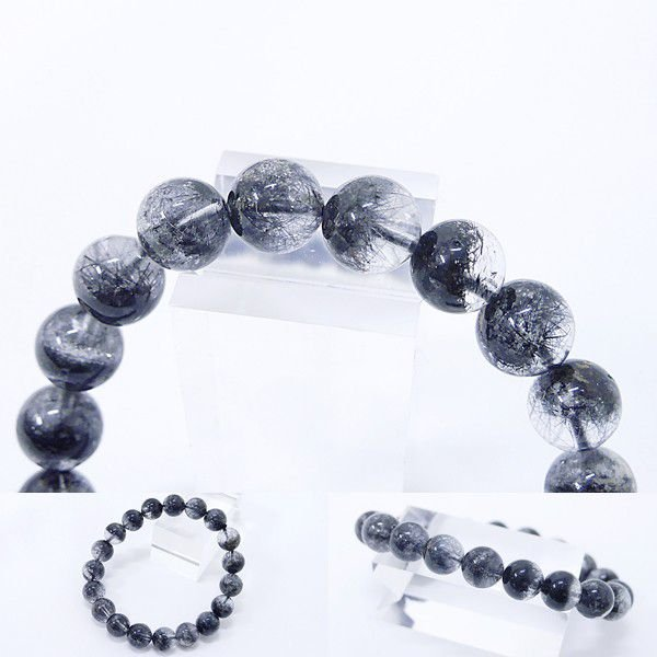 [Original天然石] 渋い黒庭園 ブラックガーデンファントム[10.mm]100035 proud 02