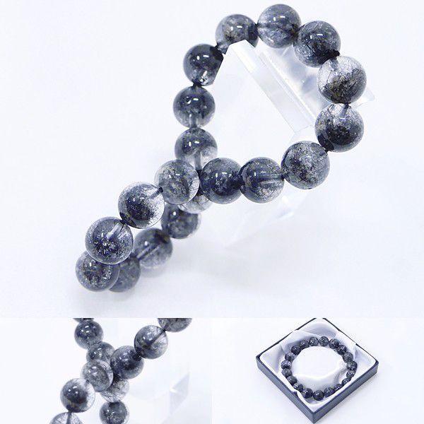 [Original天然石] 渋い黒庭園 ブラックガーデンファントム[10.mm]100035 proud 03