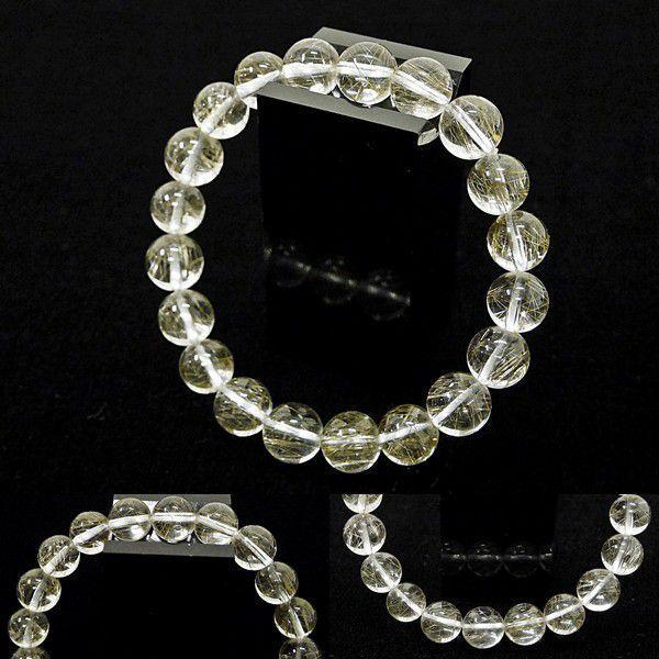 [Original天然石] 透明輝く銀針 シルバールチルA4 [9mm]100095 proud