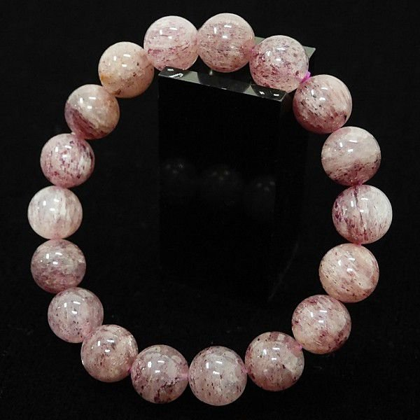 [特選品天然石] 淡色 ピンクエピドート [11.5mm]100139|proud