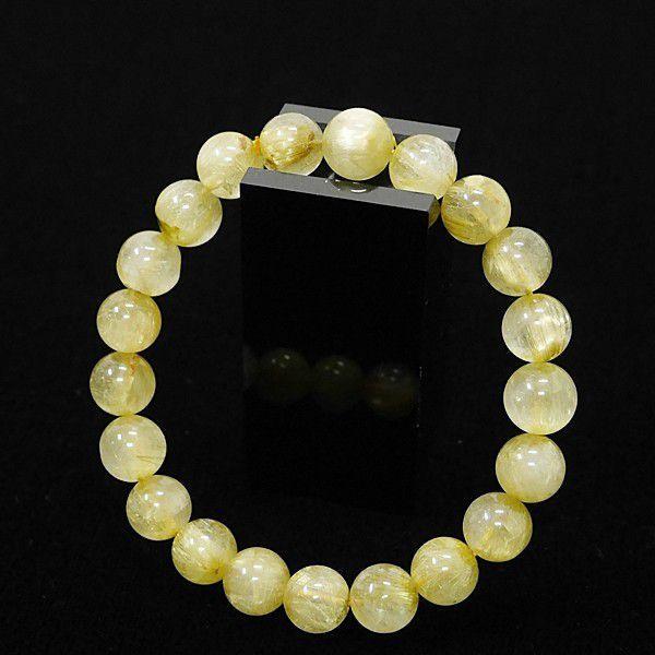 [特選品天然石] 濃密 ゴールドルチル [9.5mm]100155|proud