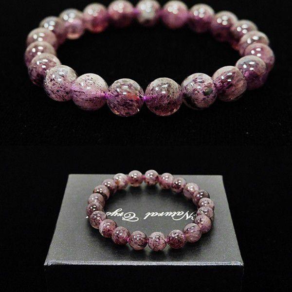 [特選品天然石] 濃色 ピンクエピドート [9mm]100173|proud|03