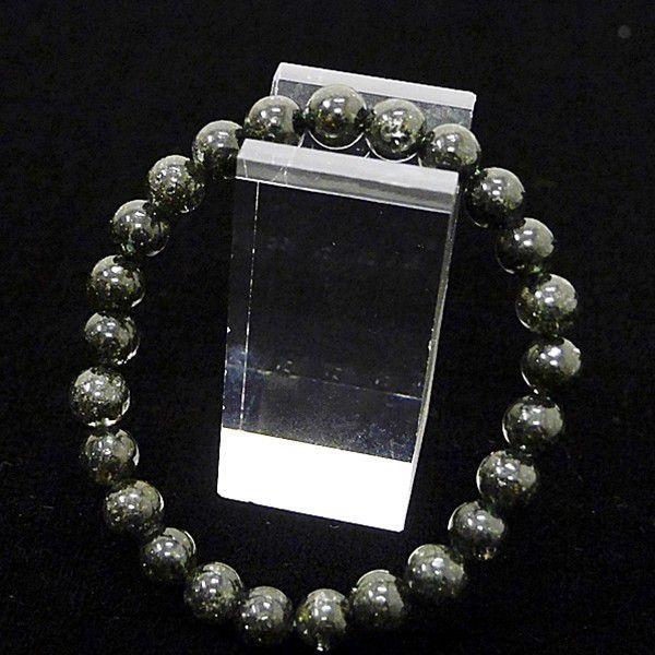 [特選品天然石] 濃密黒緑アラスカ産 ガーデンルチル [7mm]100182|proud