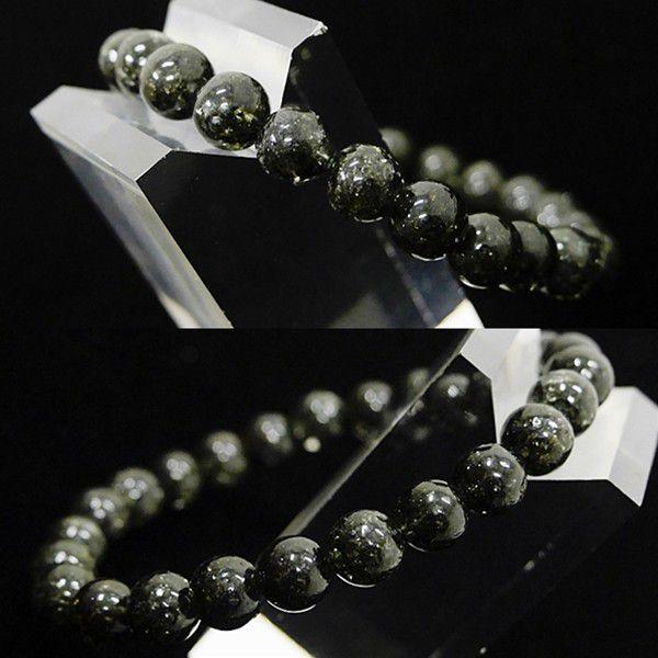 [特選品天然石] 濃密黒緑アラスカ産 ガーデンルチル [7mm]100182|proud|02