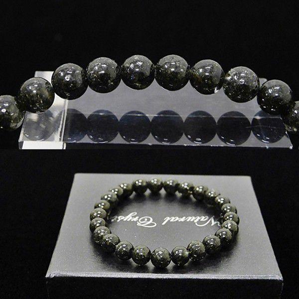 [特選品天然石] 濃密黒緑アラスカ産 ガーデンルチル [7mm]100182|proud|03