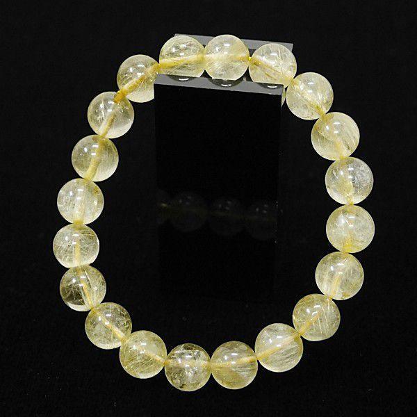 [特選品天然石] ゴールドルチル [9.5mm]100191|proud