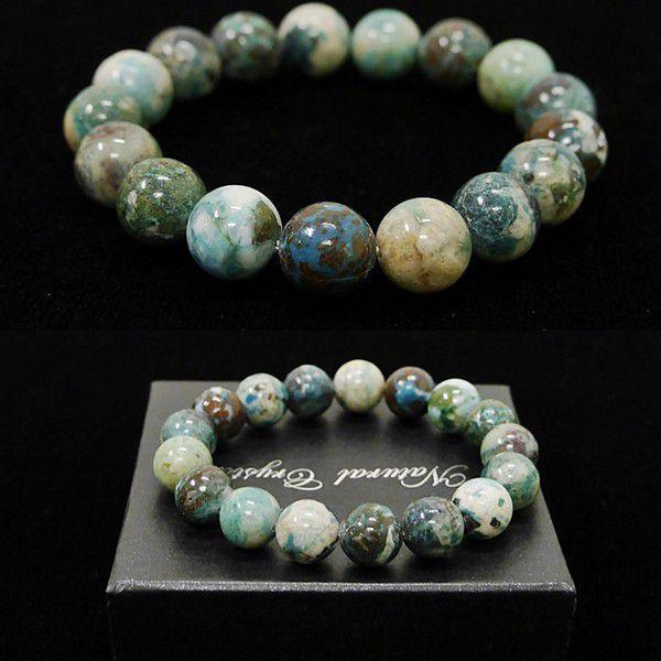 [特選品天然石] 美麗 クリソコラ 珪孔雀石 [12mm]100192|proud|03