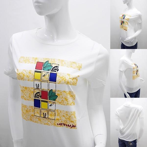 [カステルバジャックレディースアウトレット]¥15000+税 [11号]半袖Tシャツ COOL LAUREL]60127081              jcTSsl 22970|proud|02