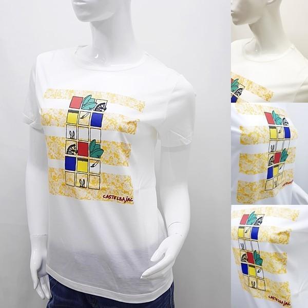 [カステルバジャックレディースアウトレット]¥15000+税 [11号]半袖Tシャツ COOL LAUREL]60127081              jcTSsl 22970|proud|03