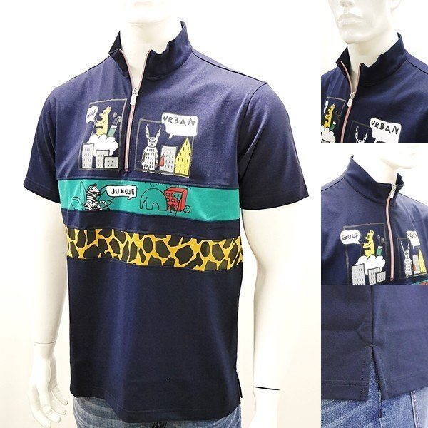 [カステルバジャックアウトレット]¥23000+税 [L]半袖ジップシャツ Fine CooL]60127082              jcTSsm 23970|proud|03