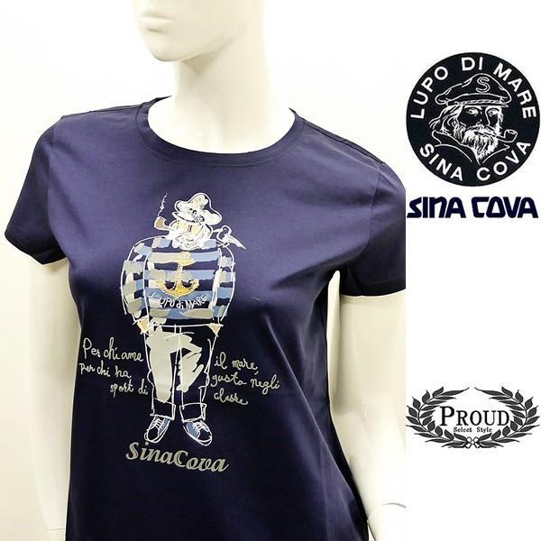 シナコバ レディース¥13000+税 [F]半袖Tシャツ フロントキャッチーモデル]80118111 -e             scTYsl 17180510|proud