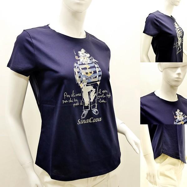 シナコバ レディース¥13000+税 [F]半袖Tシャツ フロントキャッチーモデル]80118111 -e             scTYsl 17180510|proud|03