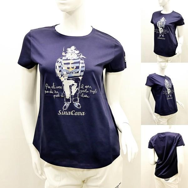 シナコバ レディース¥13000+税 [F]半袖Tシャツ フロントキャッチーモデル]80118111 -e             scTYsl 17180510|proud|05